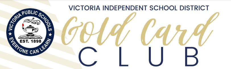 VISD Gold Card Club banner