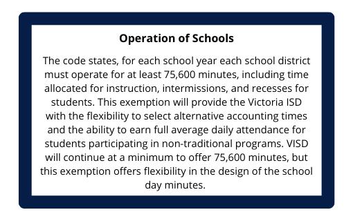 Operation of Schools