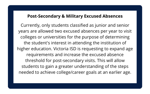 Post-Secondary & Military Excused Absences