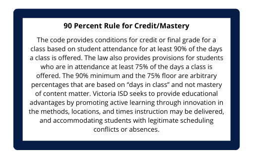90 Percent Rule for Credit/Mastery
