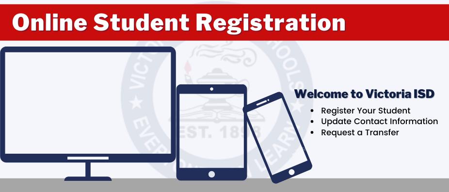 Online Student Registration banner