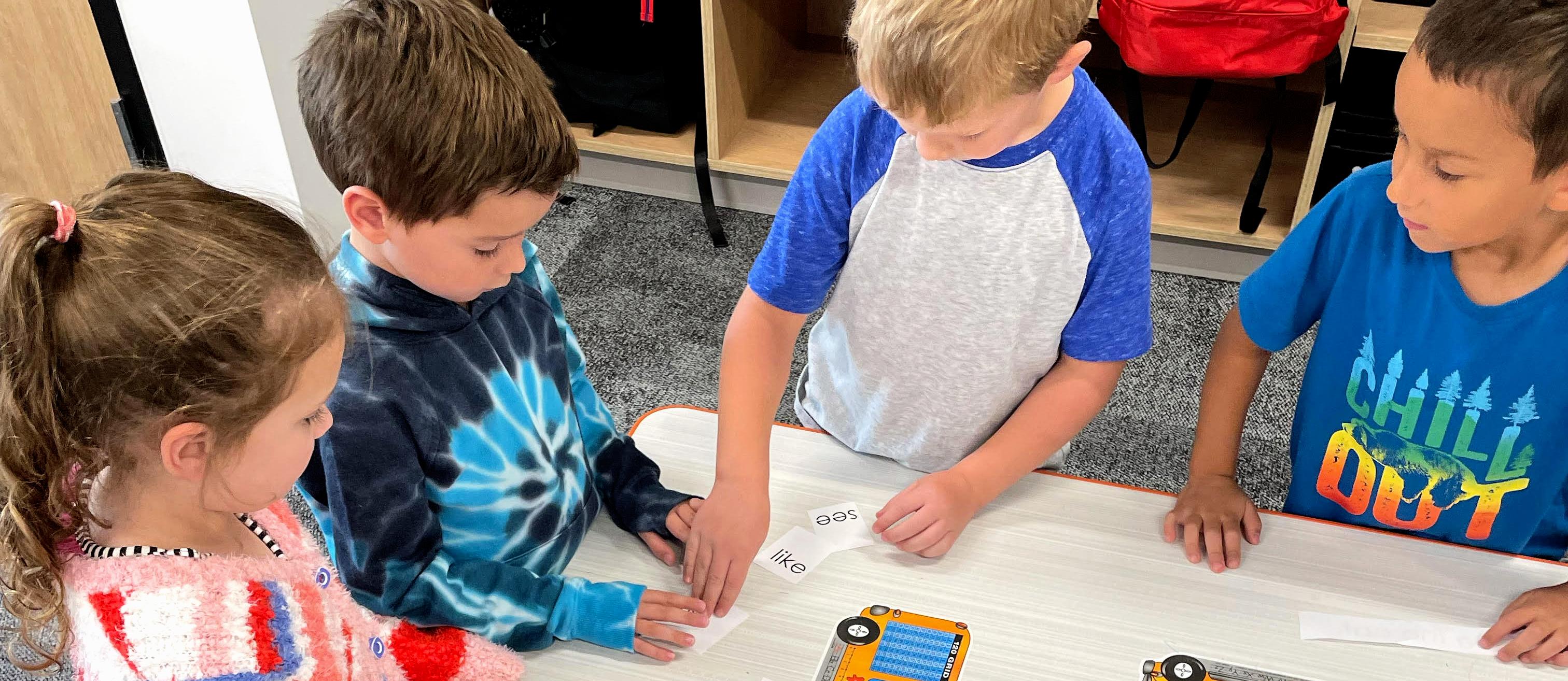 Students build sentences