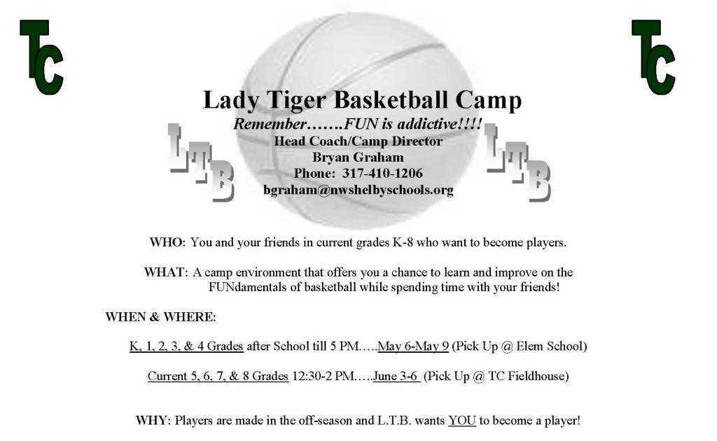Lady Basketball camp