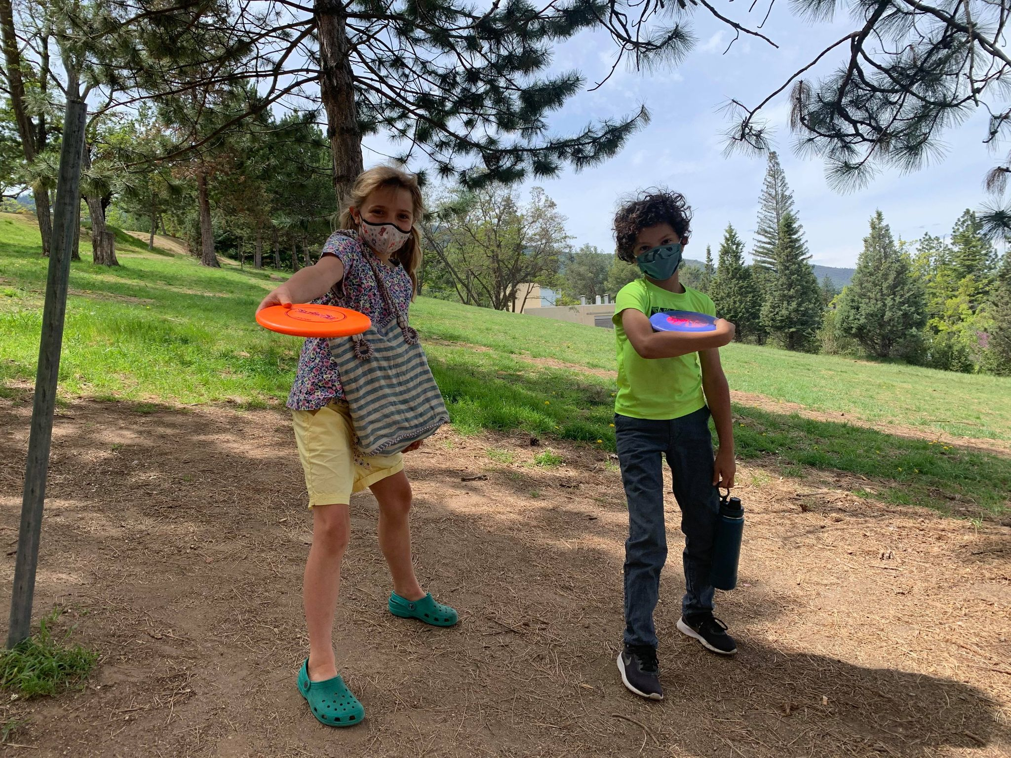 disk golf playing