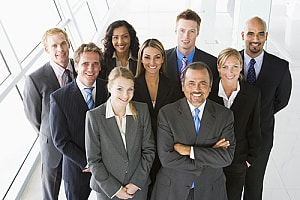 Stock photo of business savy people