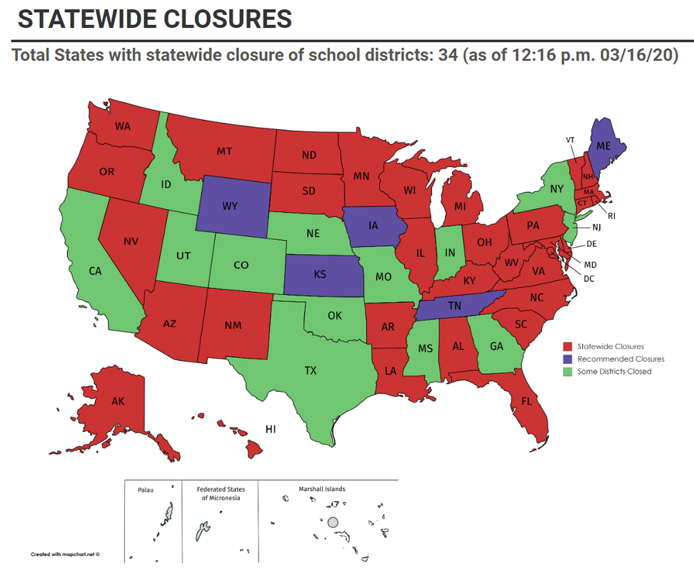 Statewide Closures