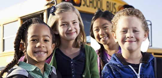 Stock photo of a small group of kids