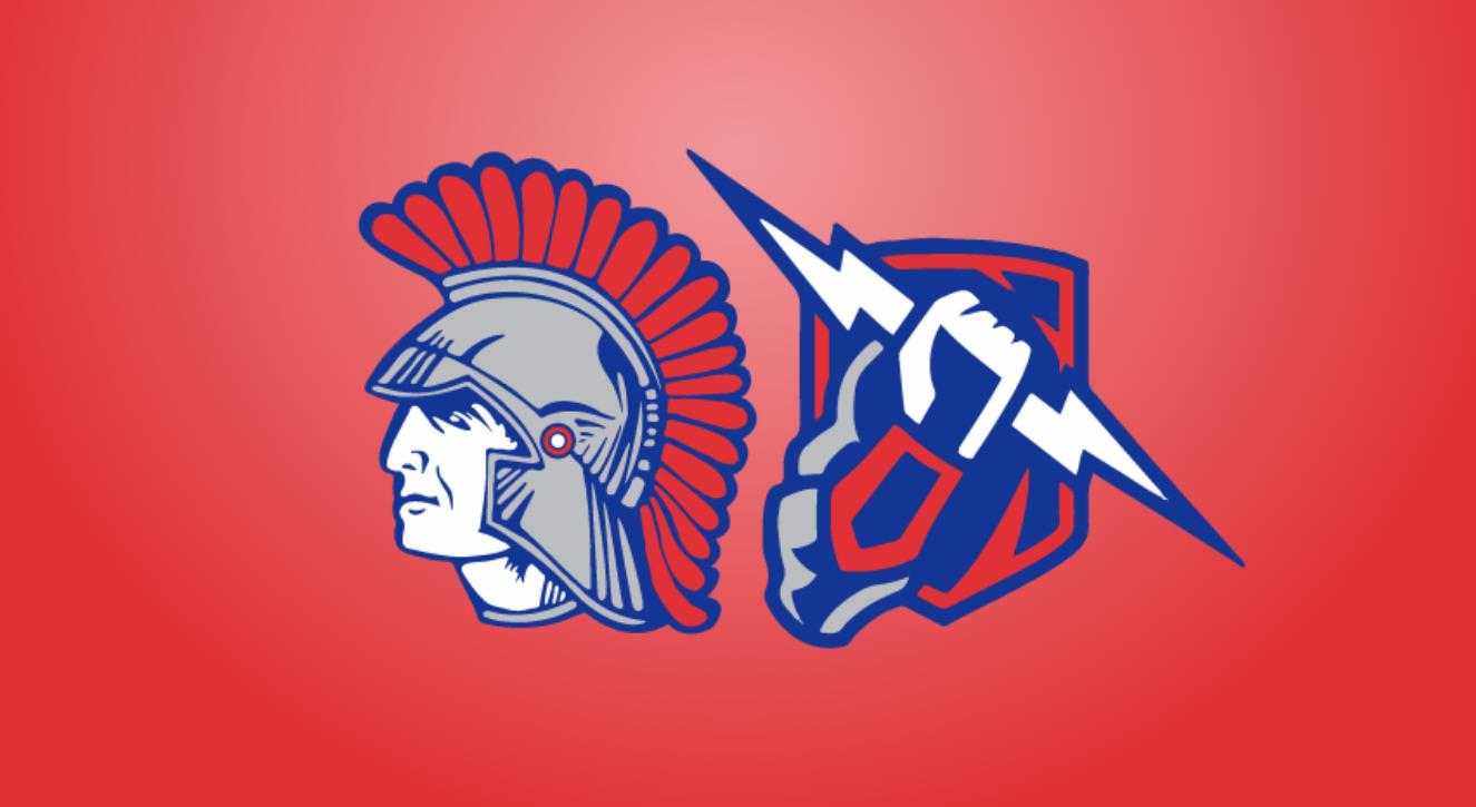 Eureka Trojan and Thunder Athletics logos