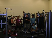 Students Ambassadors Workout In The Don't Quit Fitness Center.