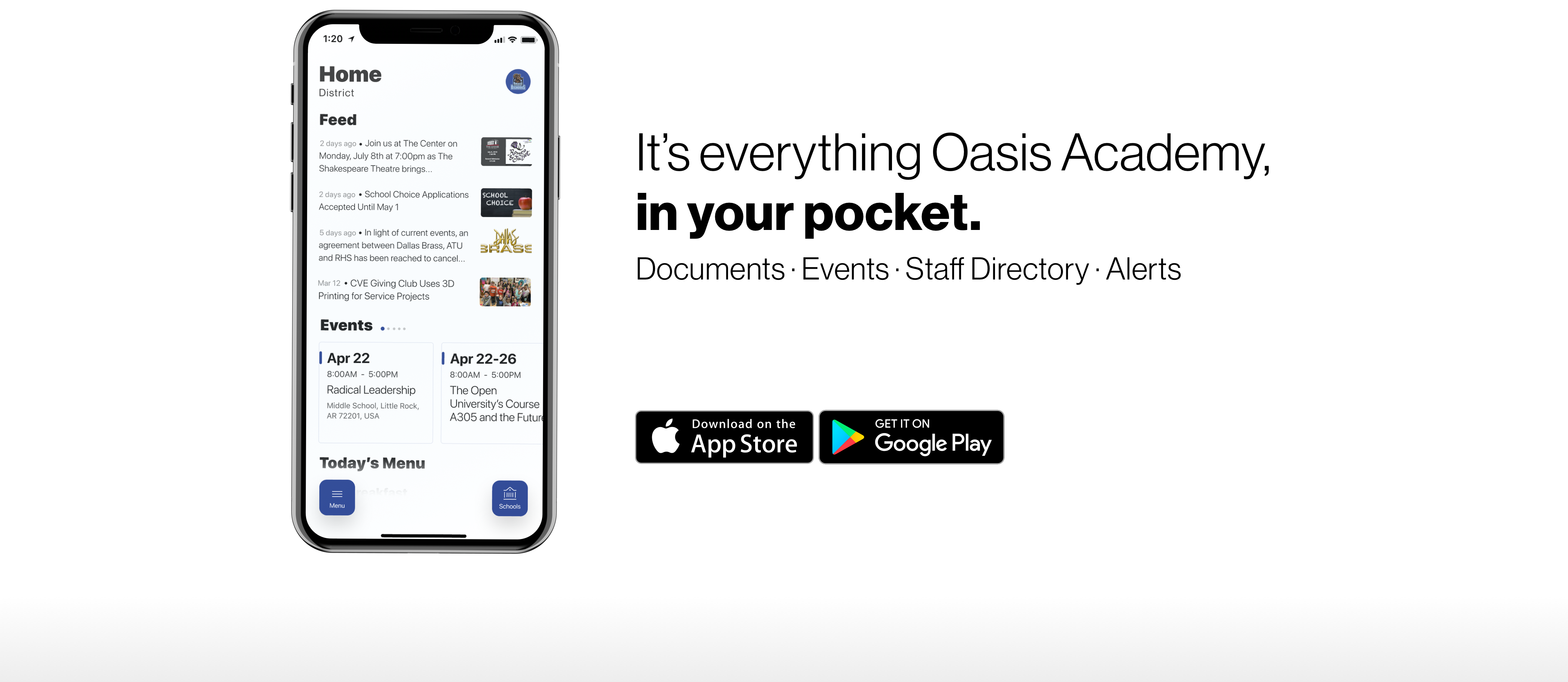 Banner promoting our new mobile app
