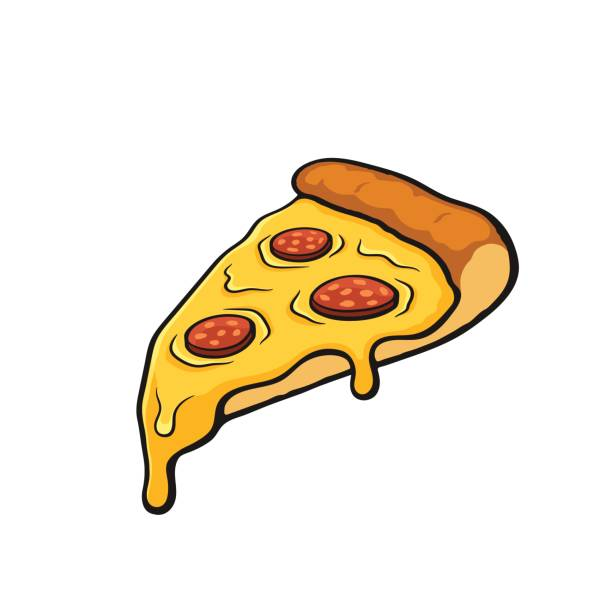Clipart of slice of pepperoni pizza