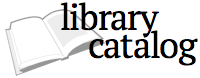 library catalog with open book