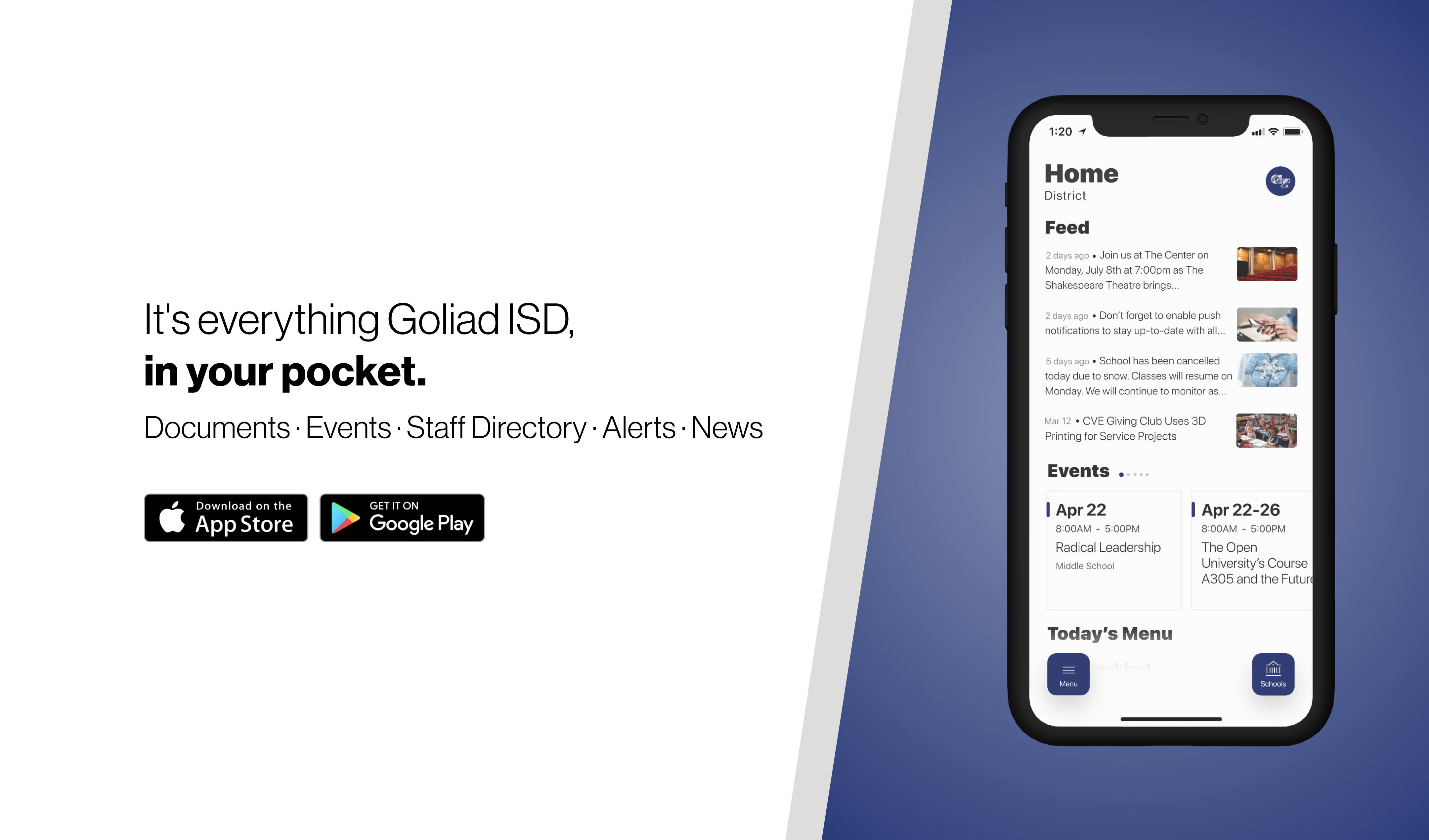 Download Goliad ISD's app on iPhone or Android