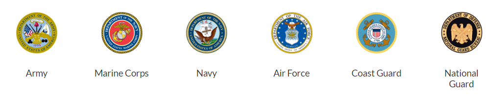 US Armed forces seals