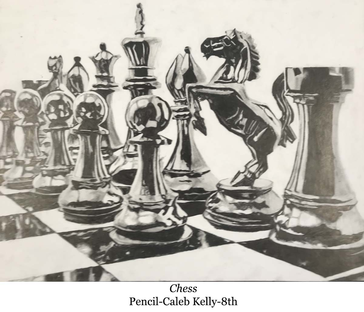 drawing of a chess board