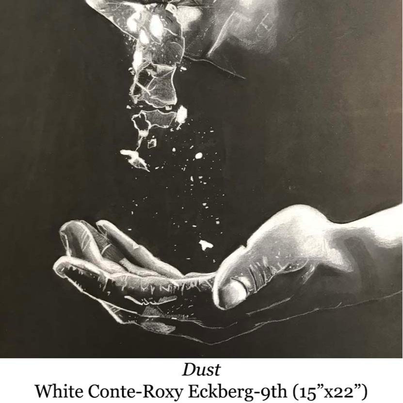 drawing of dust