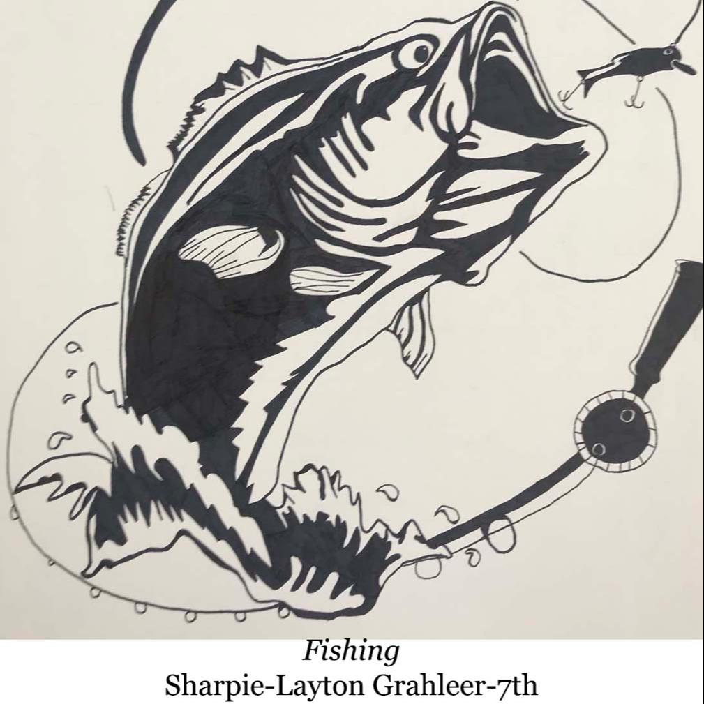 drawing of fishing