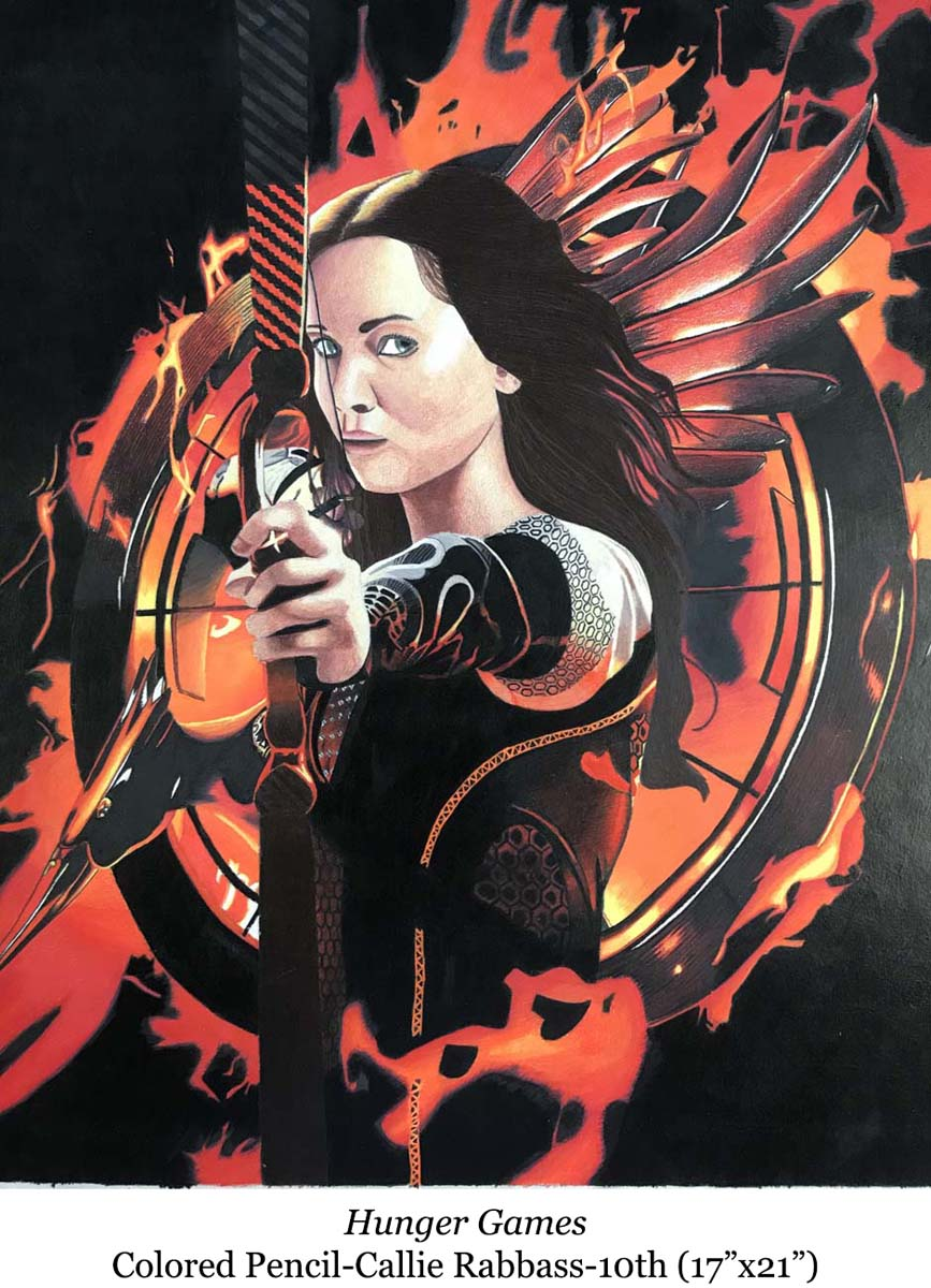 a drawing of katniss