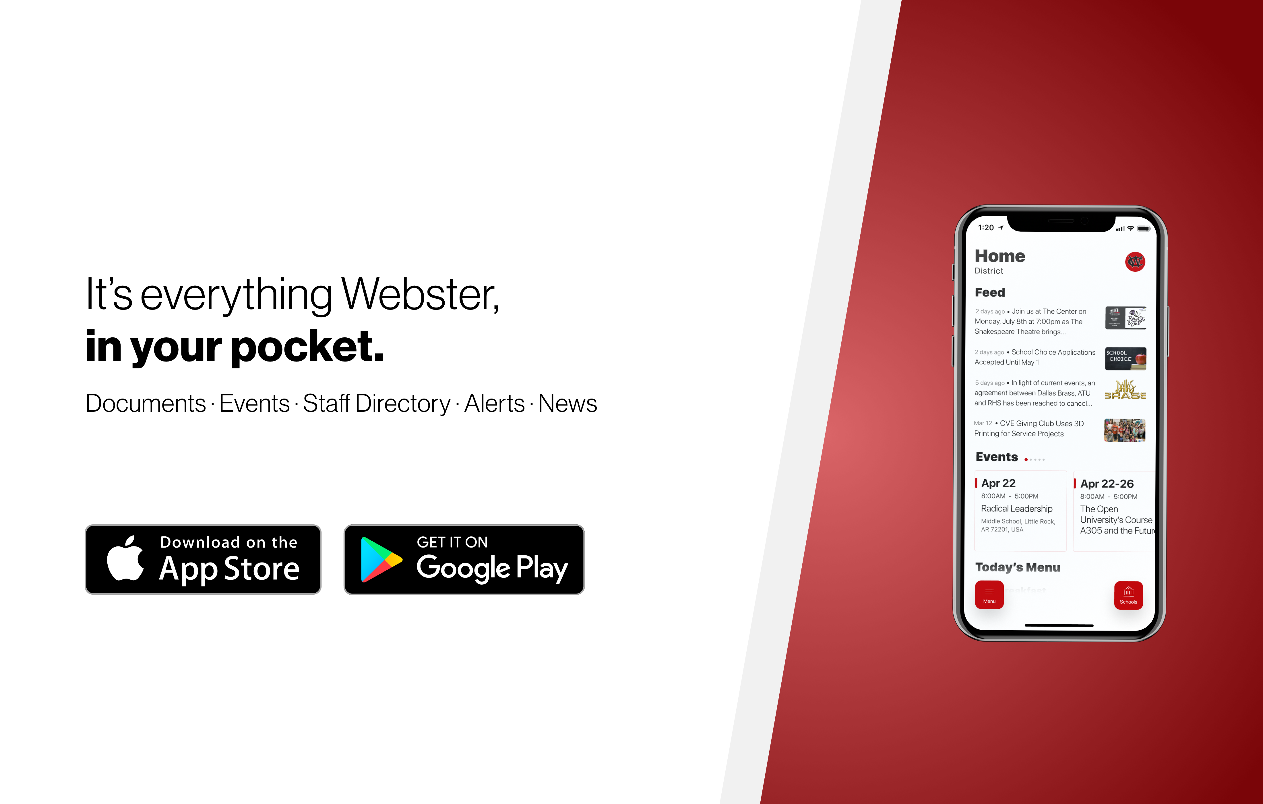 A banner promoting our new mobile app!