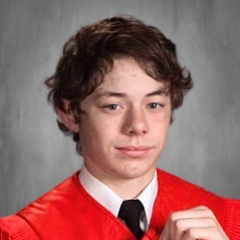Cap and Gown Photo of Gabe Giblin