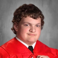Cap and Gown Photo of Cody Kolb