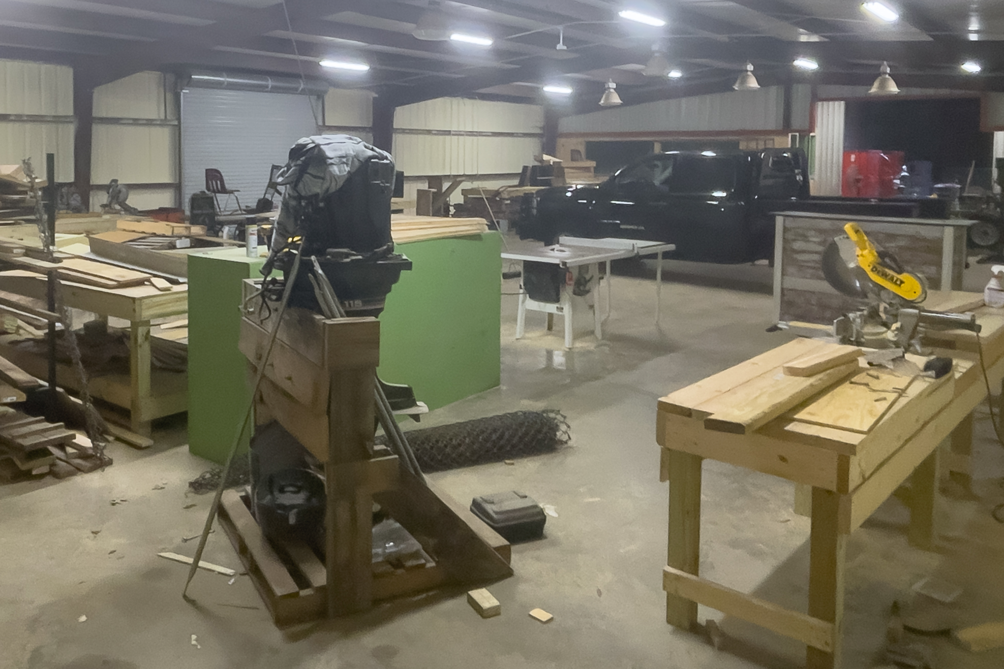 Agriculture Mechanics Shop with Metal and Woodworking Equipment and Projects