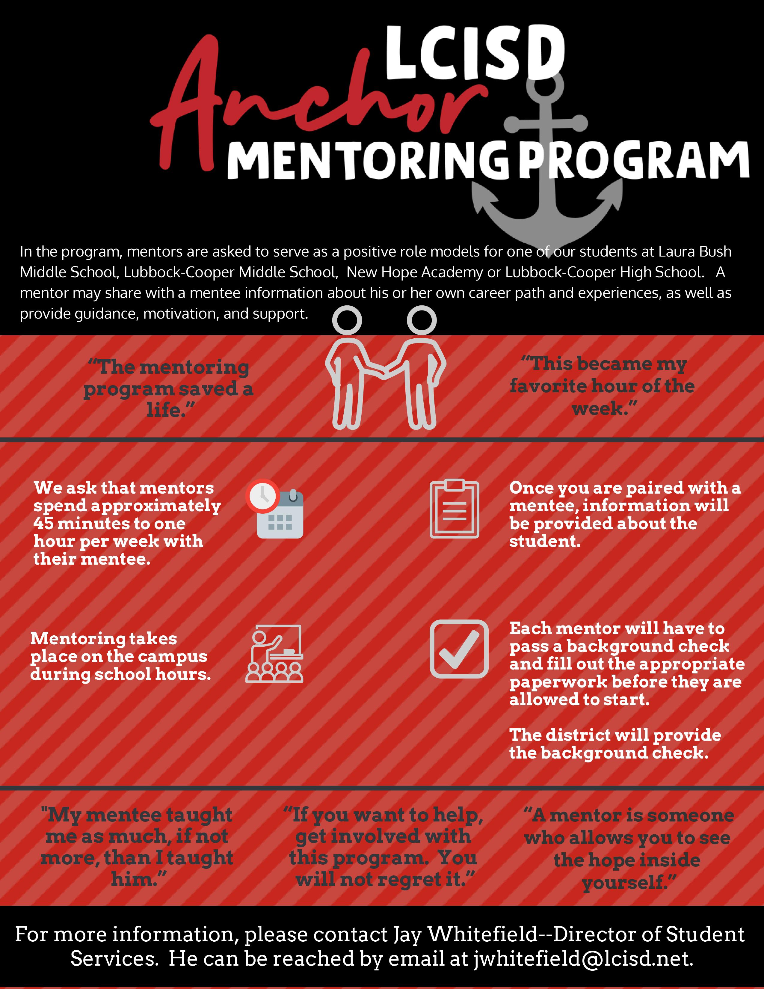 LCISD Mentoring Program Flyer