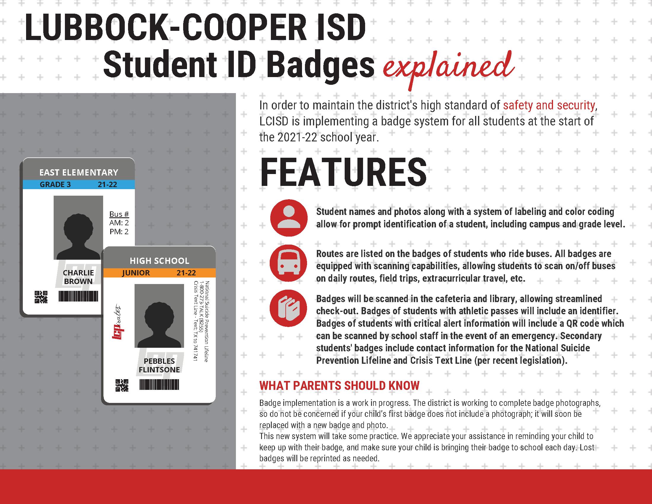 student badge flyer