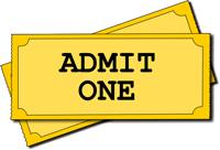 Admit one - ticket image