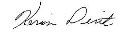 Kevin Dirth signature