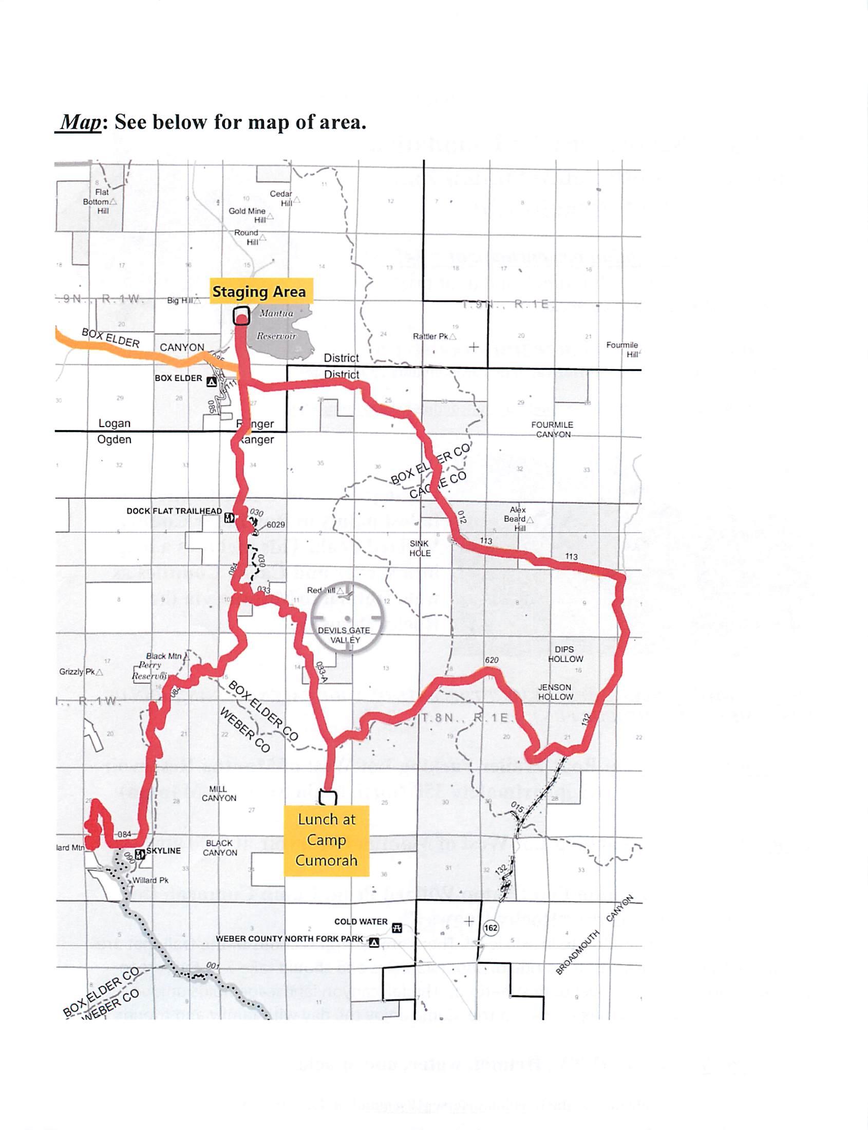 Map of ATV Ride