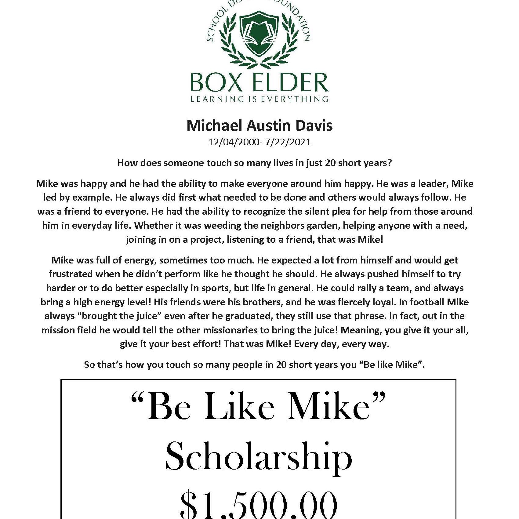 """Be Like Mike"" Scholarship"