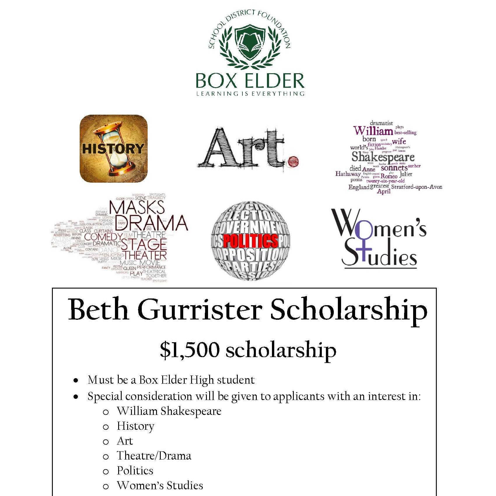 Beth Gurrister Scholarship