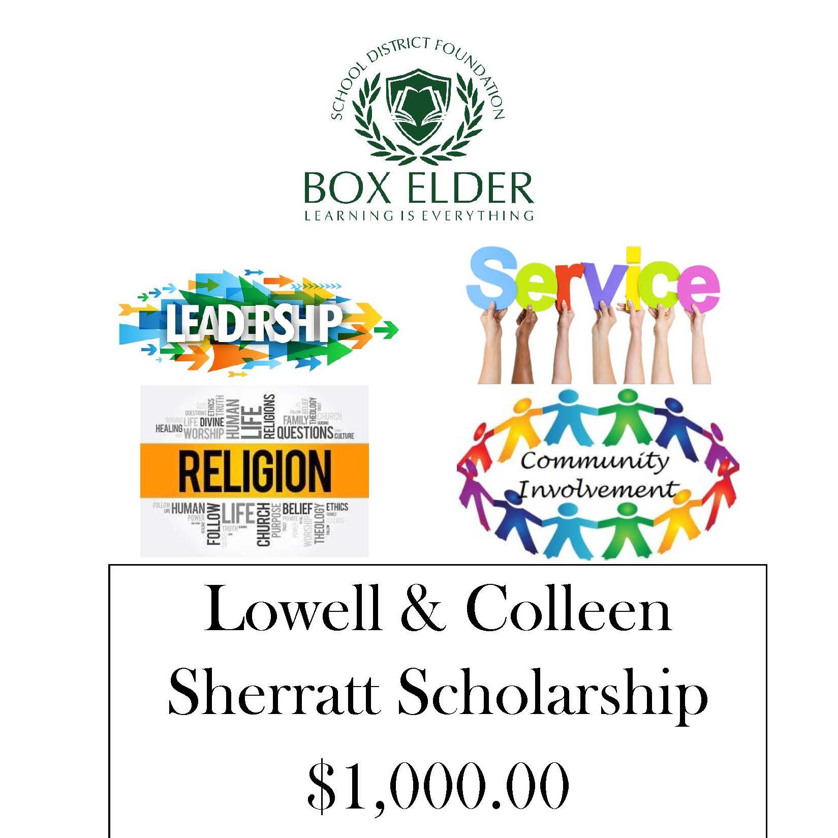 Lowell & Colleen Sherratt Scholarship