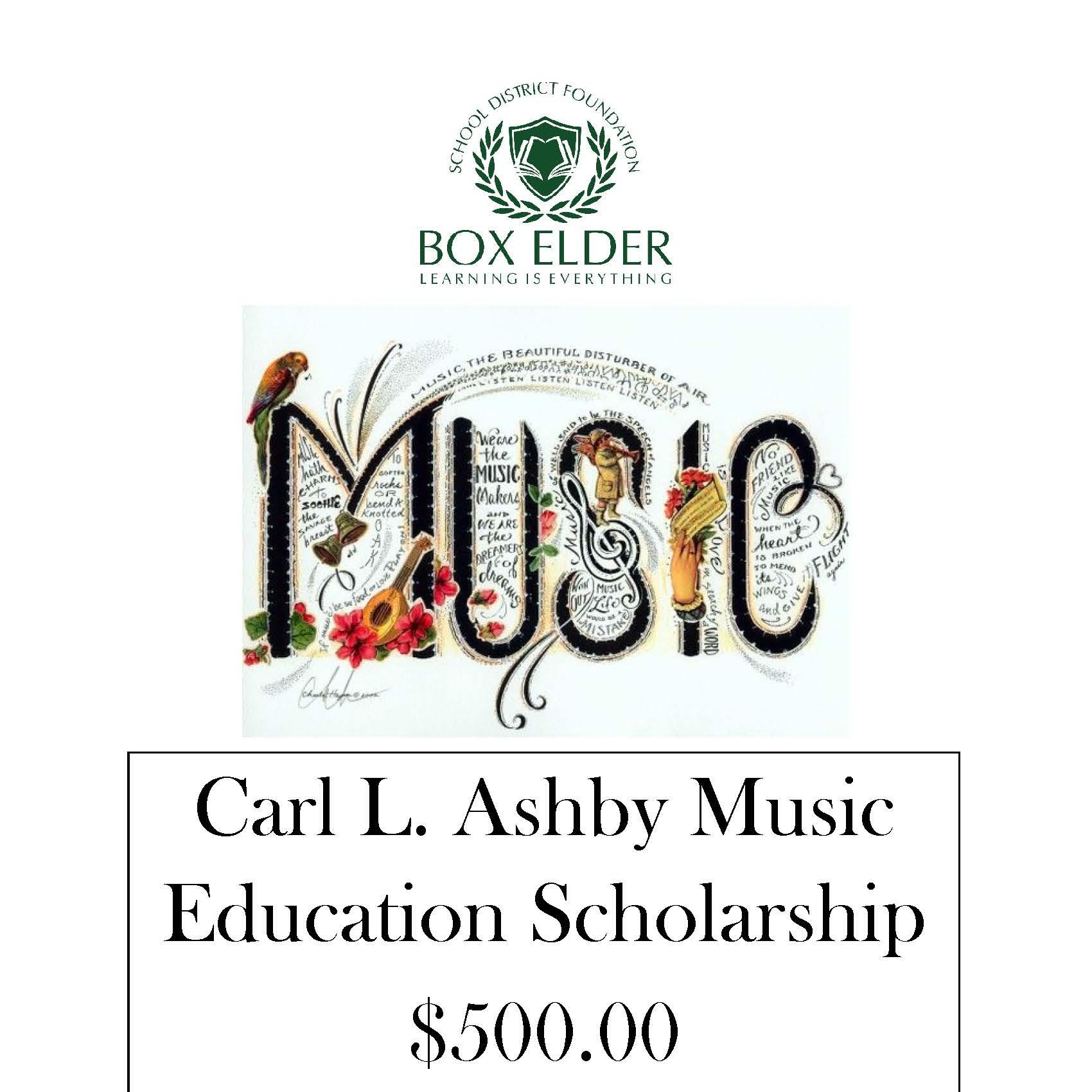 Carl L. Ashby Music Education Scholarship
