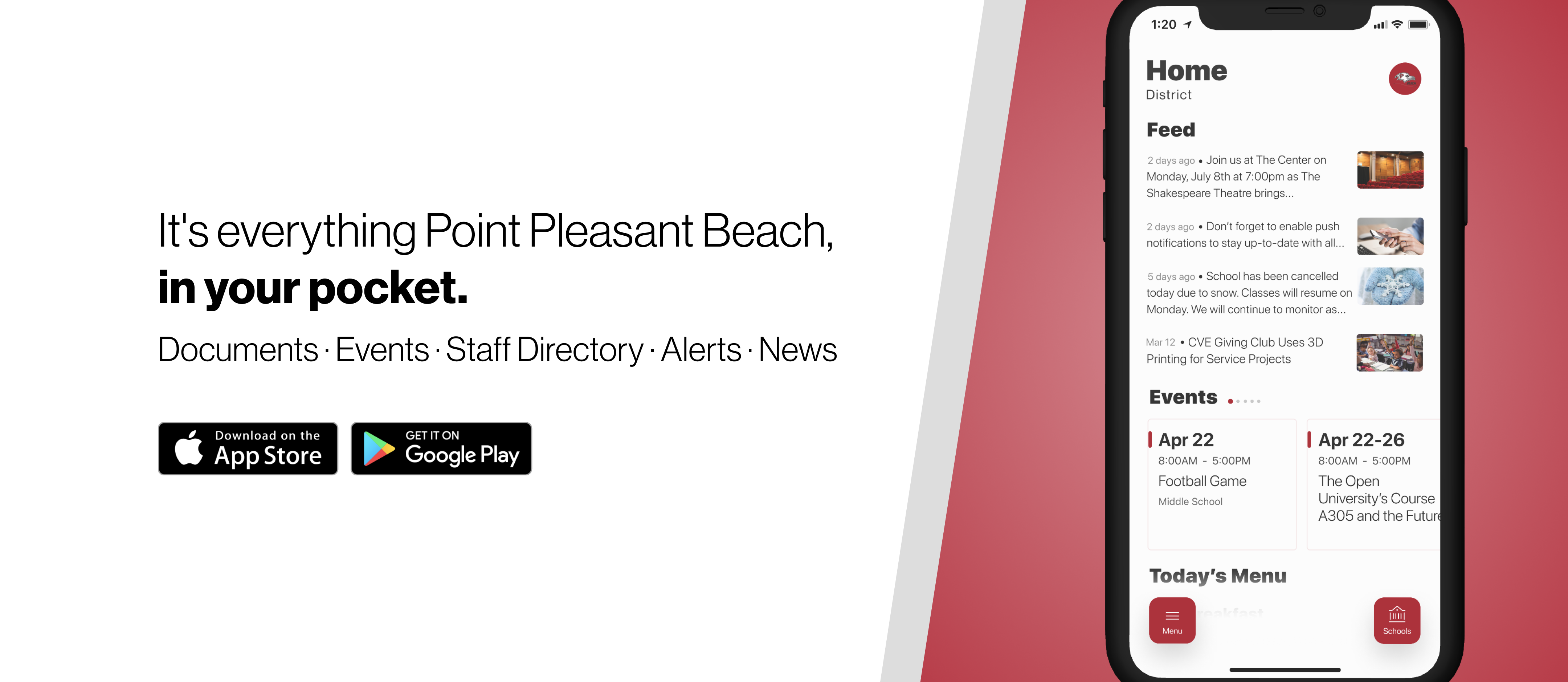 It's everything Point Pleasant Beach, in your pocket. Download our app the App Store or Google Play