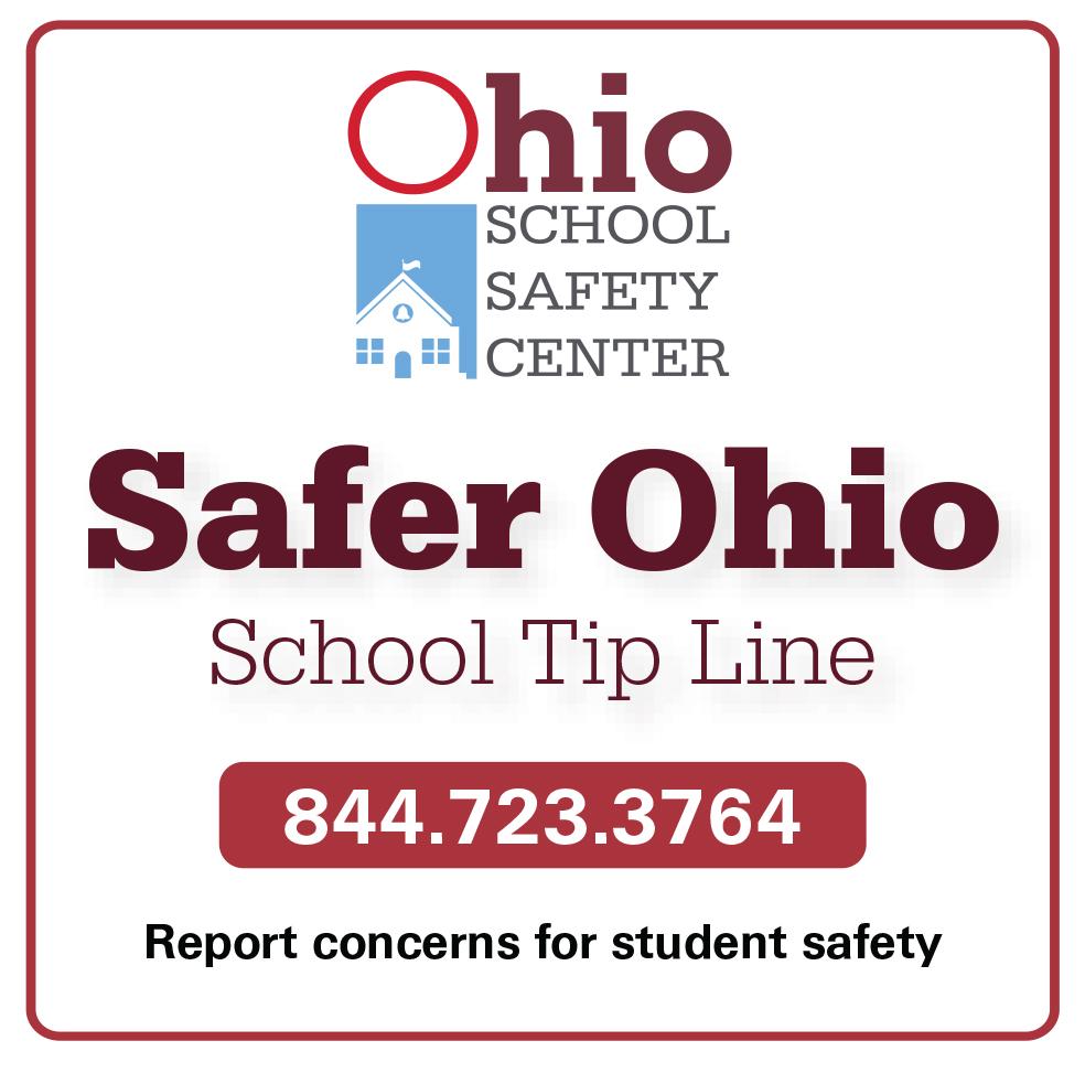 Safer Ohio Tip Line at 844-723-3764
