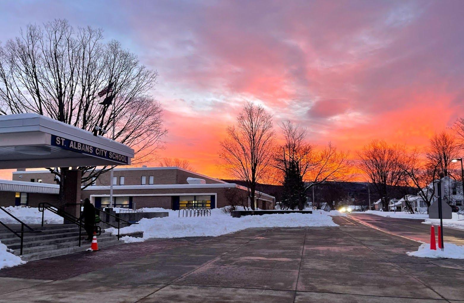 Sunrise over City School