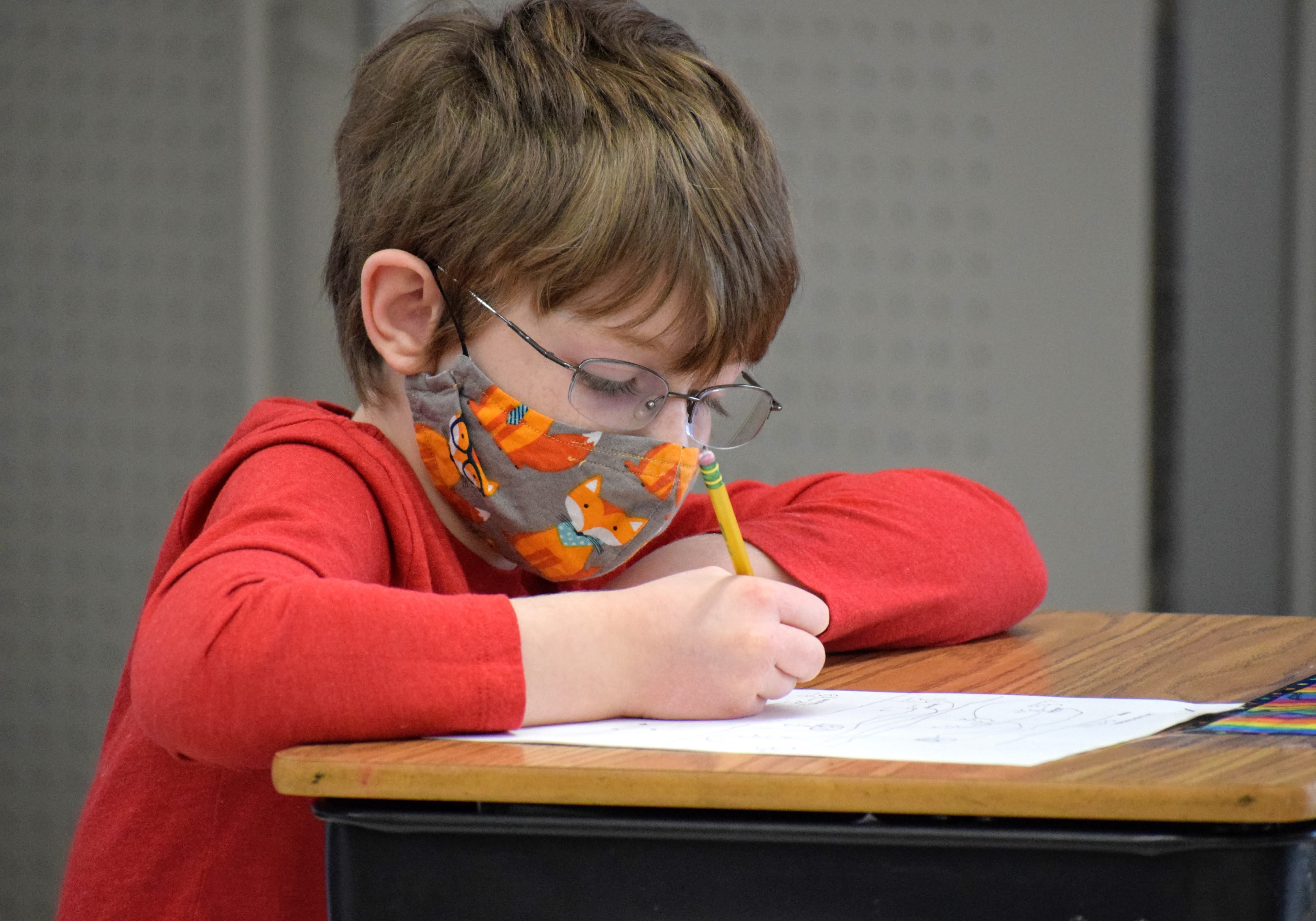 Student working independently