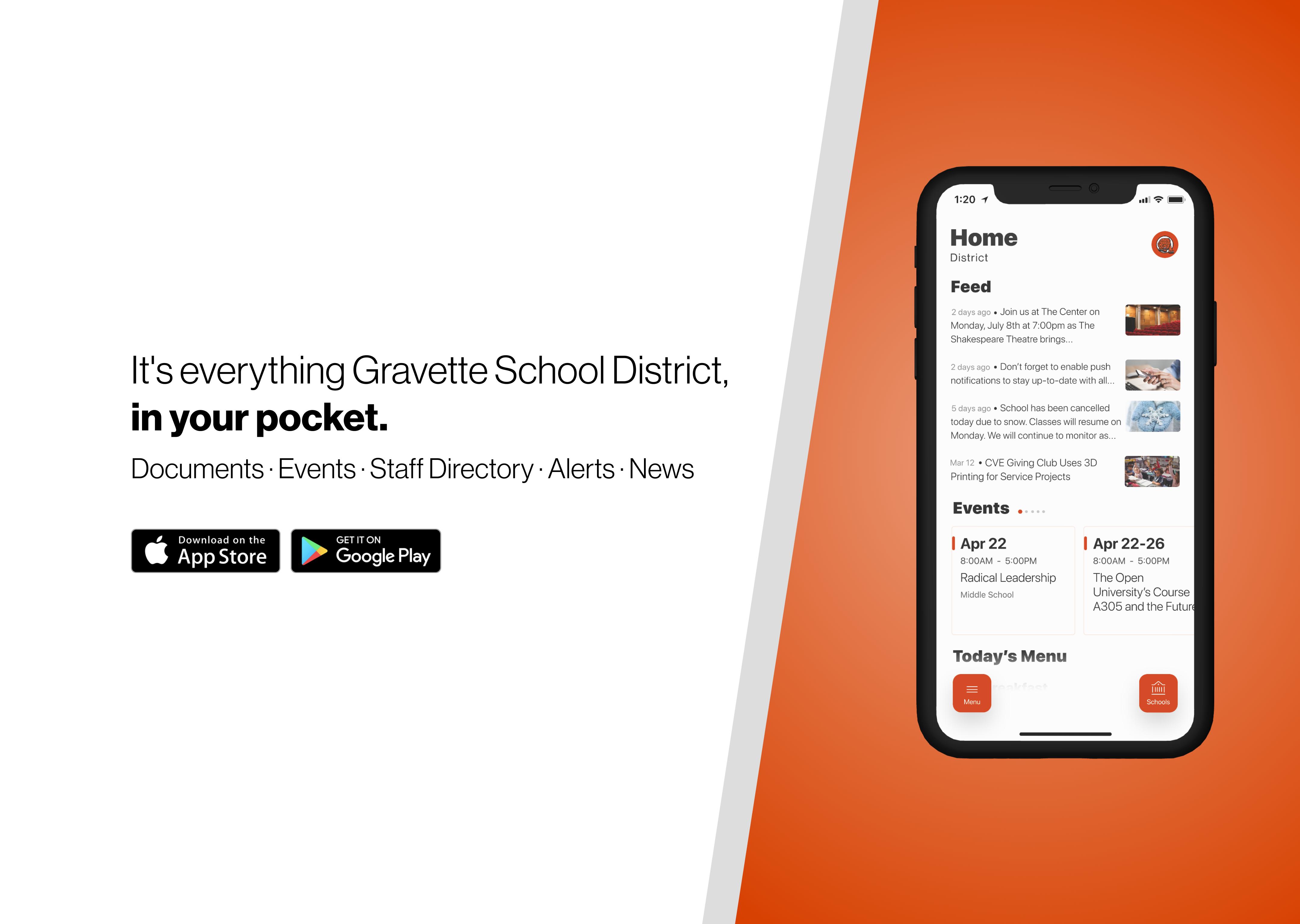 Gravette Schools App Advertisement