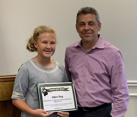 Sept Student of the Month