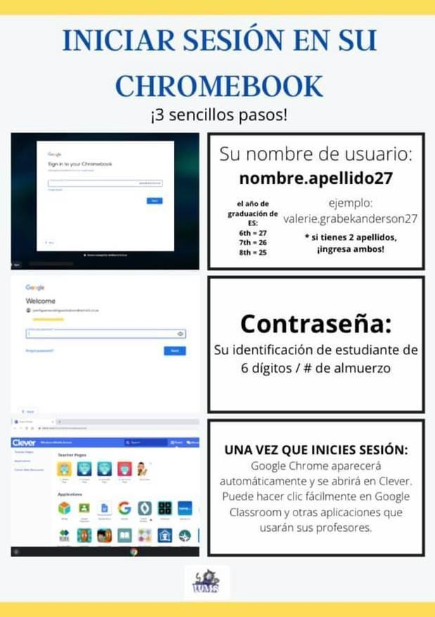 Signing in to your Chromebook - Spanish