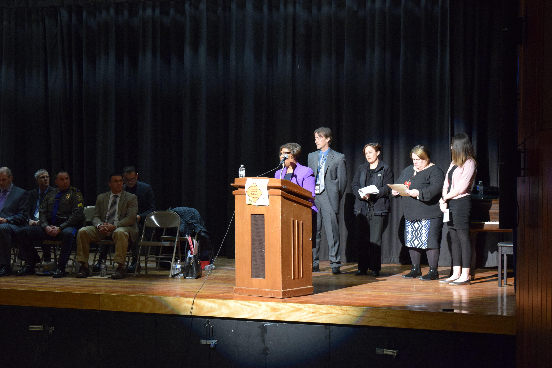 Dr. Garcia introduces building administrators to speak on safety plans