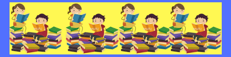 kids with books