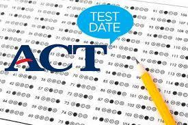 A picture of the ACT test
