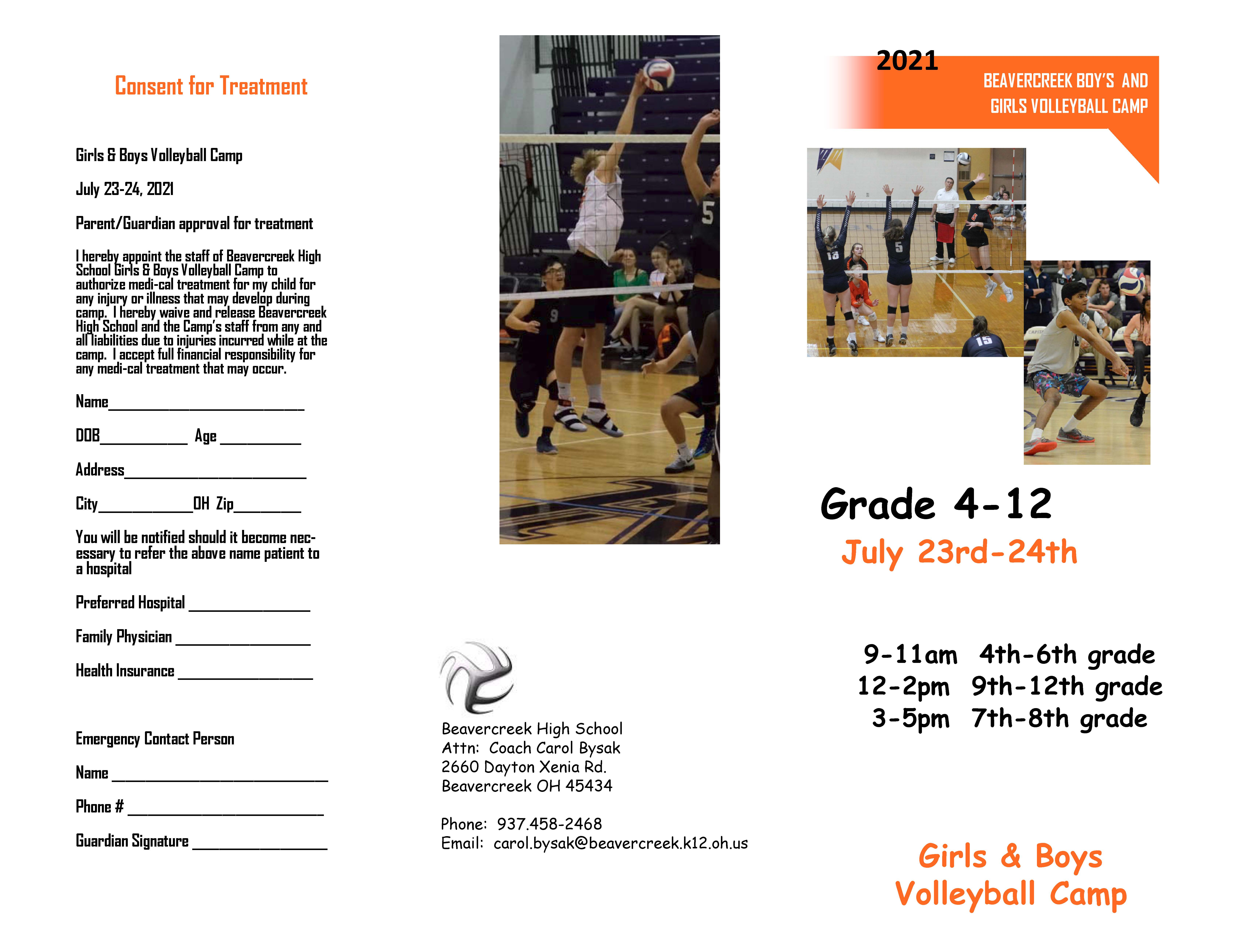 Volleyball Summer Camp Page 1