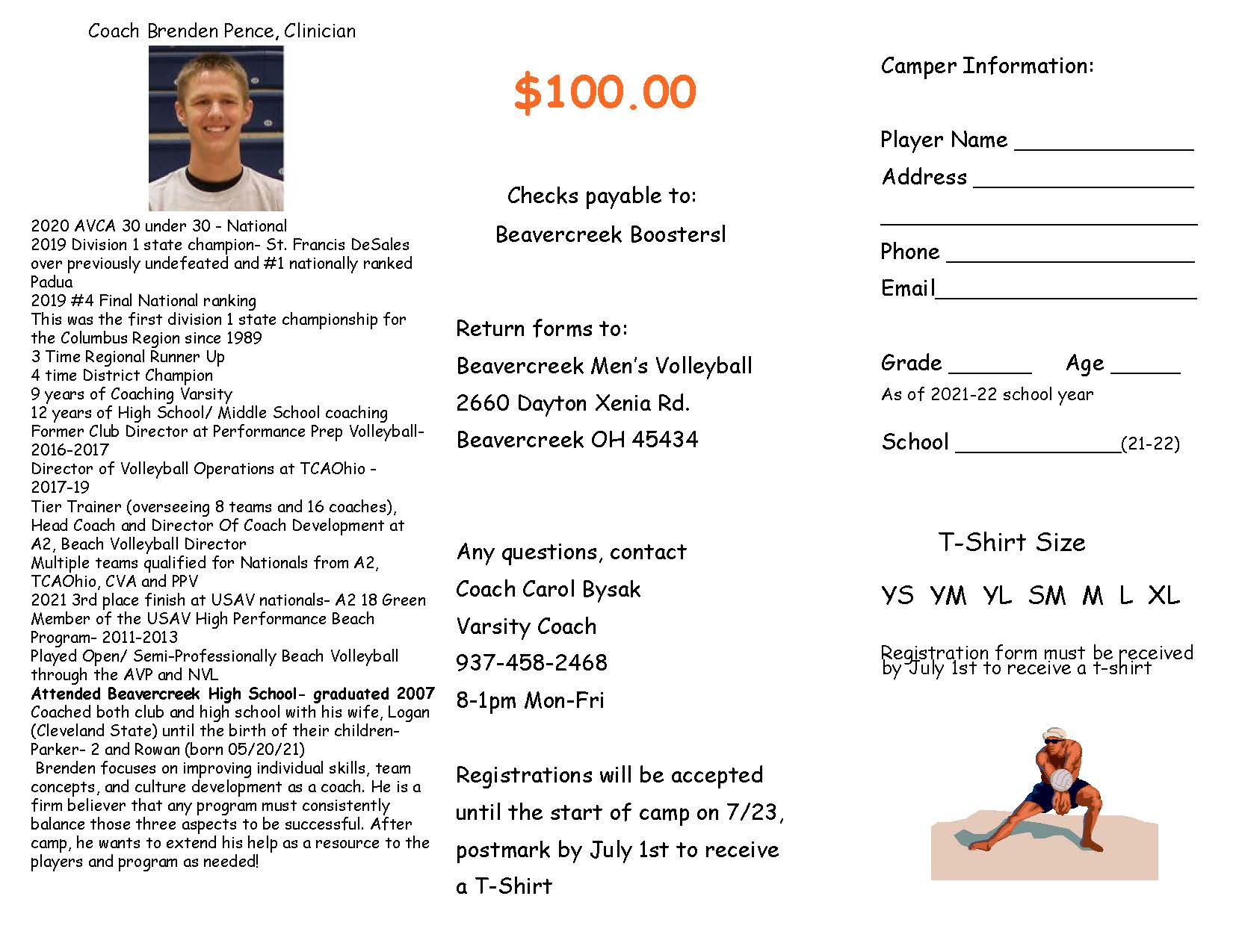 Volleyball Summer Camp Page 2