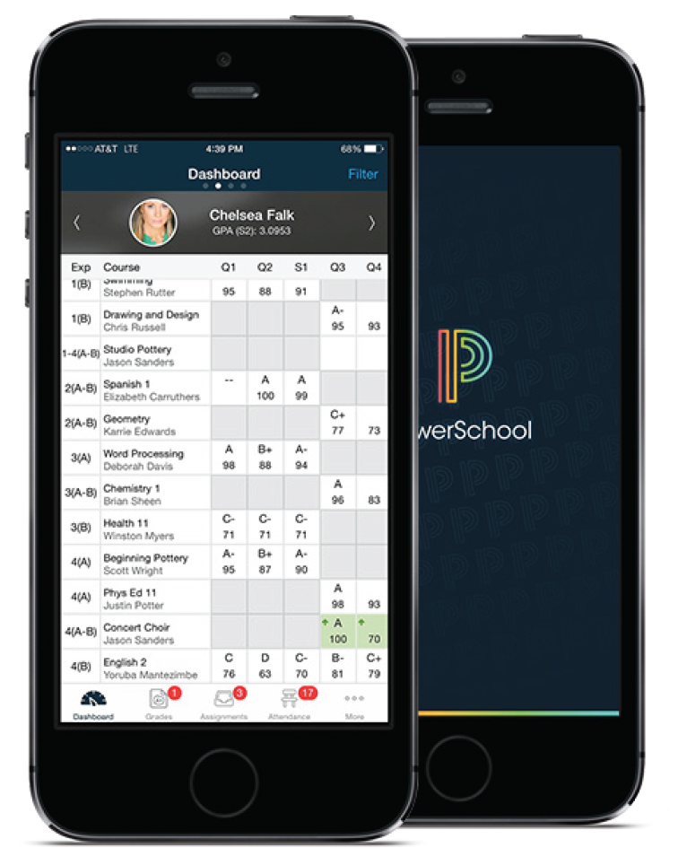 photo of a powerschool phone graphic