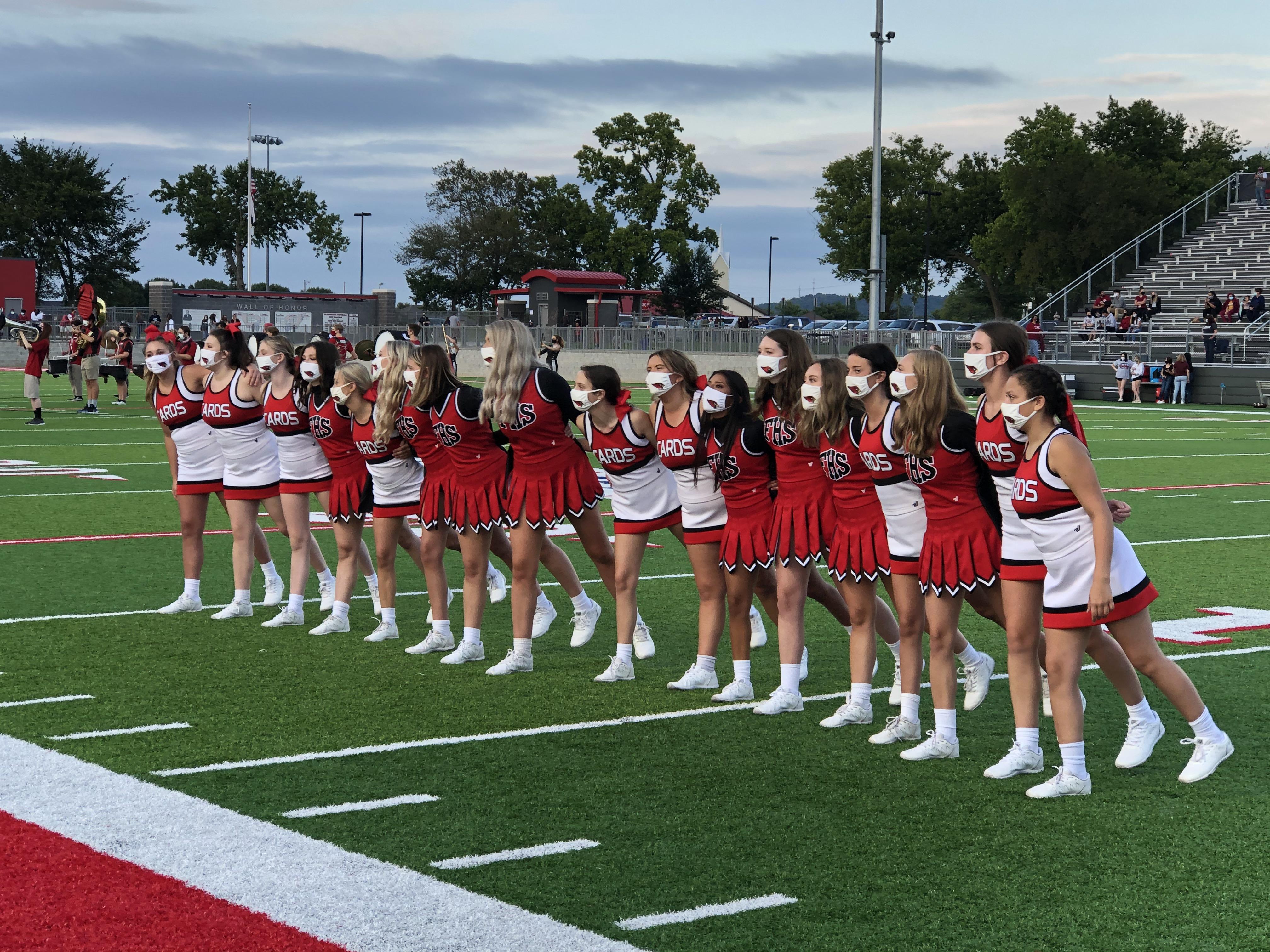 Cheerleaders on sideline