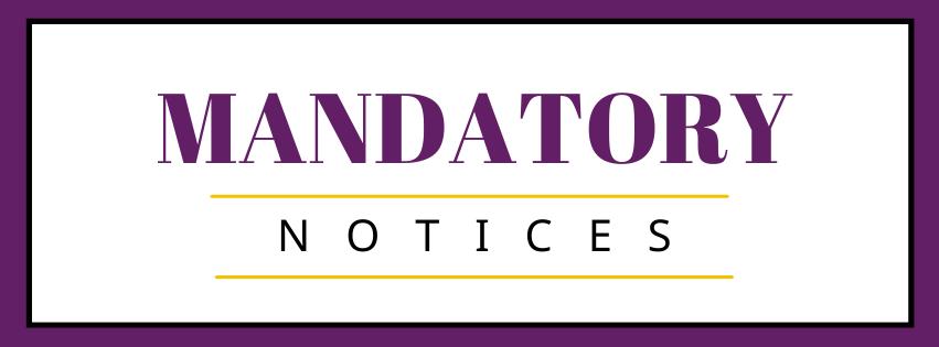 Mandatory Notices